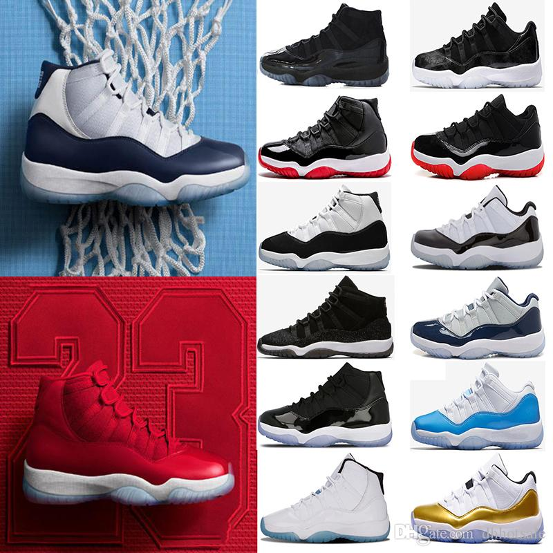 c1f4fc9a5c7 2018 Basketball Shoes 11 11s Prom Night Cap And Gown Men Womens 72 10 Gamma  Blue Gym Red Navy Gum Space Jam Sport Sneakers Cool Basketball Shoes Women  ...