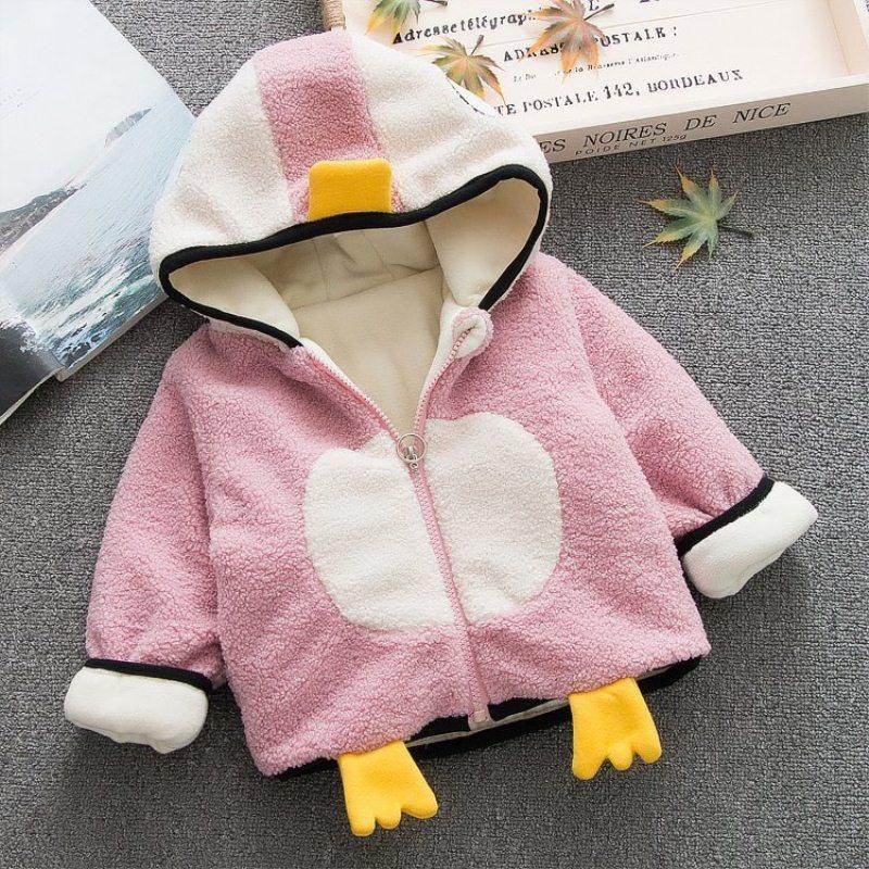 f3bbbff8e 2018 Newborn Baby Girls Hooded Clothes Penguin Infant Snow Suit ...