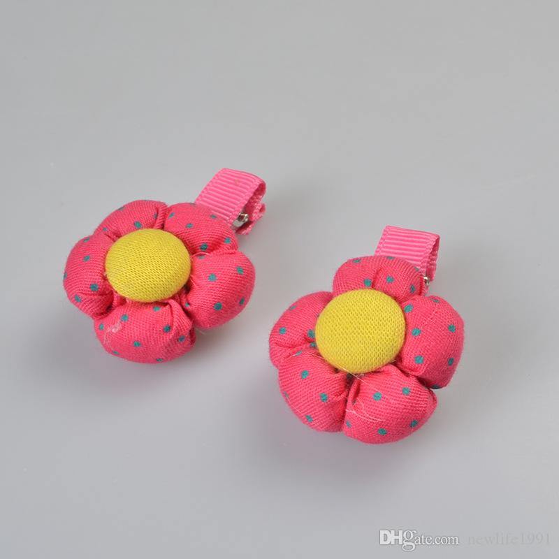 Cute Flowers Hair Clip Pet Hairpin Dog Headclips Flowers Style Puppy Pets Accessories Cute Funny Party Dogs Decorations