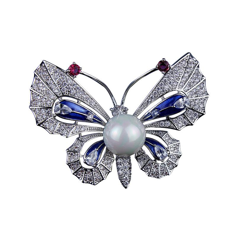 Red Trees Butterfly Brooches Pins For Women Coat Accessories High ... 658127cbeafb
