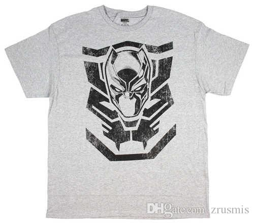 aa88c76e66 Marvel Black Panther T Shirt Men S Shirt T Challa Wakanda Mask Grey Tee Tee  Shirts Mens T Shirts From Zrusmis