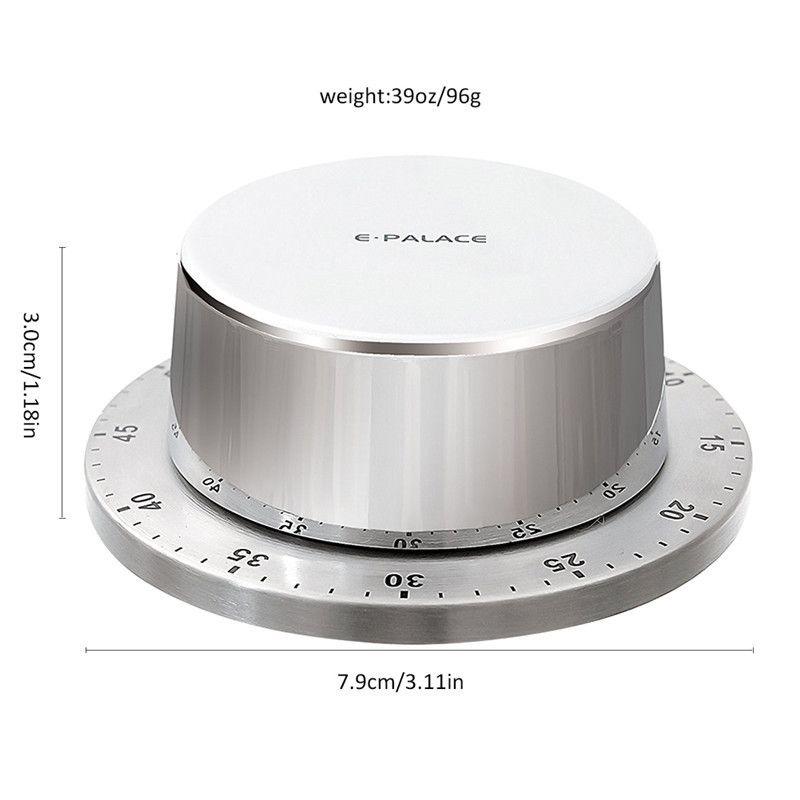 Kitchen Timer Magnetic Cooking Alarm Clock Reminder Multifunctional Timer Kitchen Gadget Round Stainless Steel