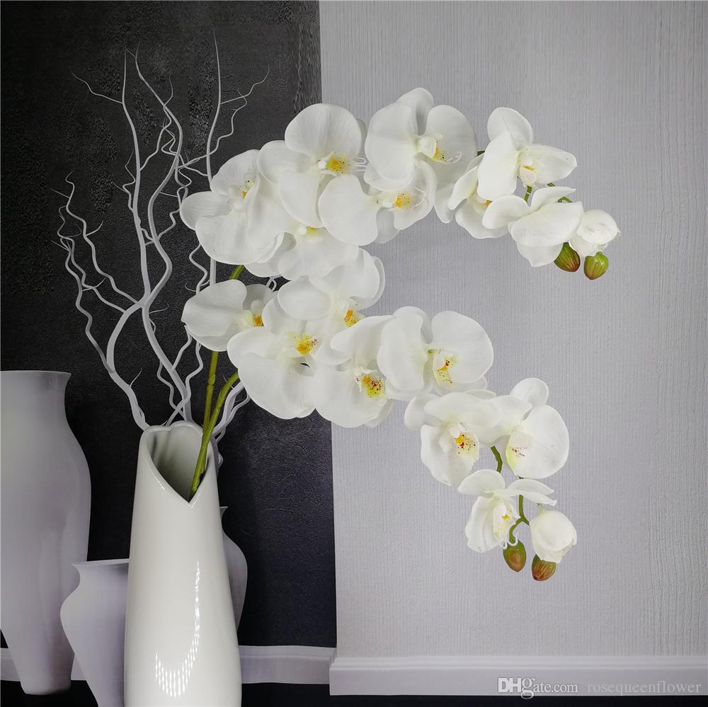 2019 Artificial Butterfly Orchid Branch Flower Decoration Real Touch