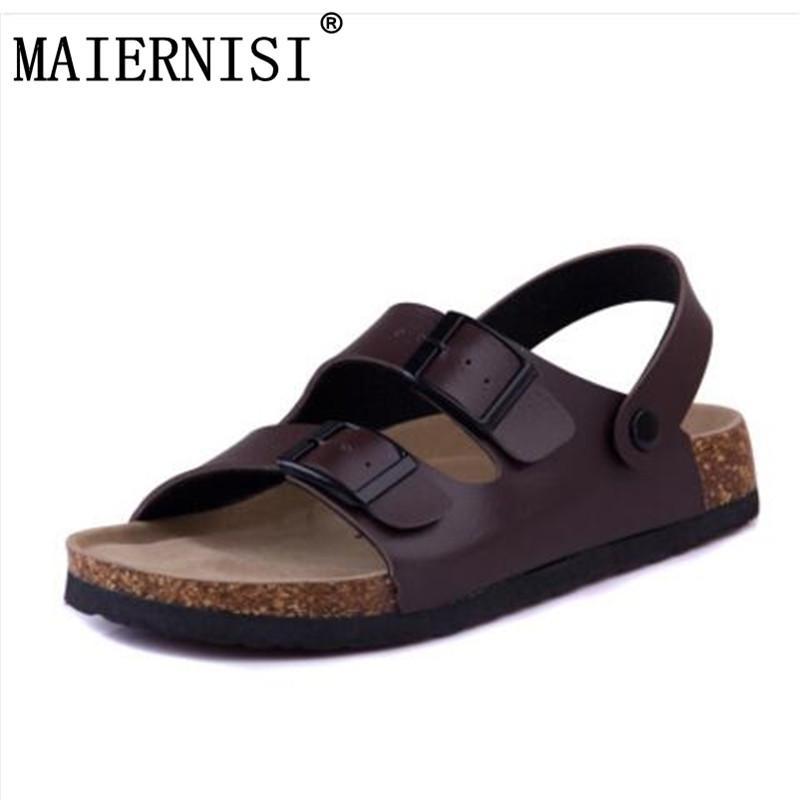 83225086103 Men Slides Cork Sandals Slippers Cross Solid Sweet Female Casual Summer Shoes  Flip Flops Femmes Sandales Big Plus Size 35 43 Sandals For Men Jelly Sandals  ...
