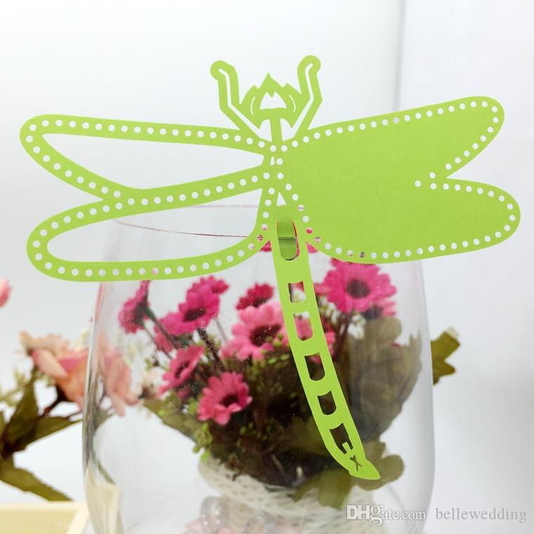 Laser Cut Place Cards With Dragonfly Paper Cutting Name Cards For
