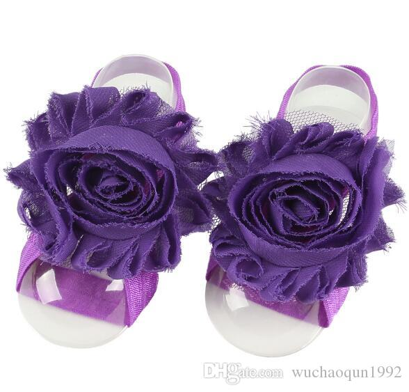 baby Slipper Sandals Barefoot shoes Foot Flower Ties Toddler Shoe Infant crochet
