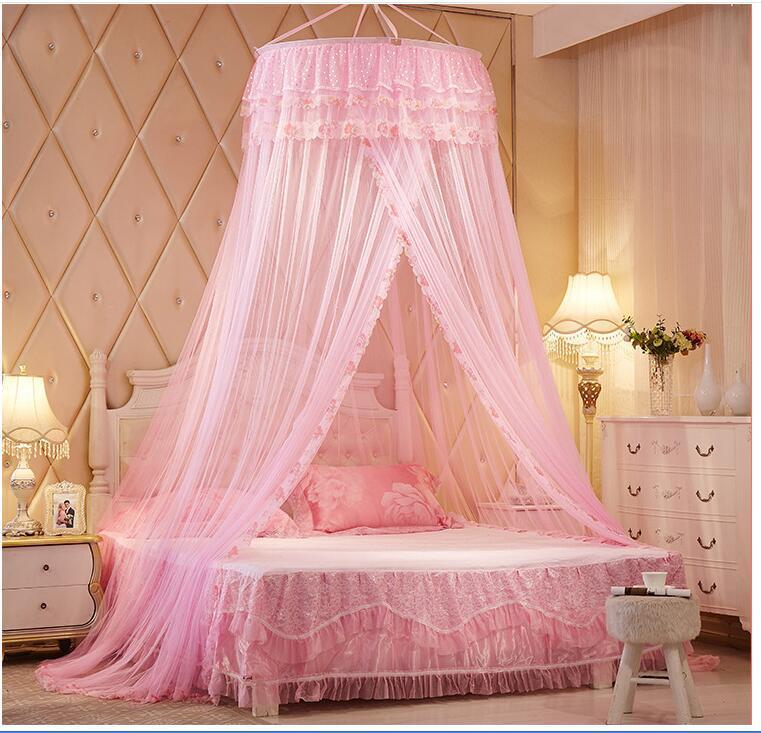 Grosshandel Round Princess Konigliche Decke Net Baldachin Dekoration