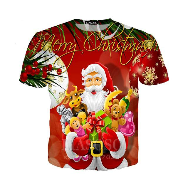 1a3abd59 2018 New Merry Christmas T Shirt Animal Deer 3d Print T Shirt Women Men  Fashion Clothing Tops Outfits Tees Plus Size Funny Cool Shirts Be Awesome T  Shirt ...