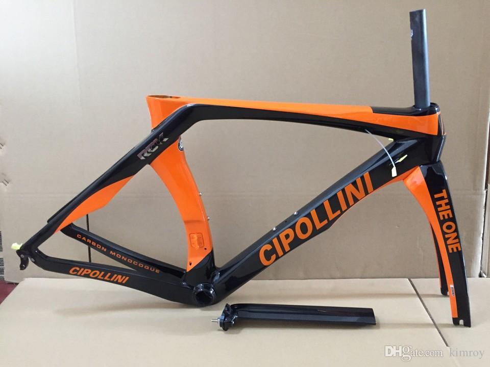 Turuncu Cipollini RB1K BIR Parlak Karbon yol çerçeve sıcak satış yol bisikleti tam karbon fiber çerçeve