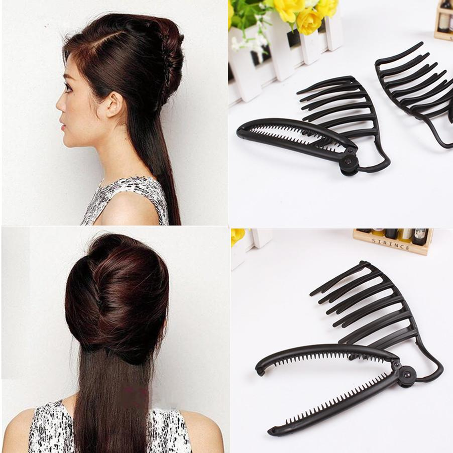 Compre Mulheres Diy Formal Magic Hair Styling Updo Fast Bun Pente E