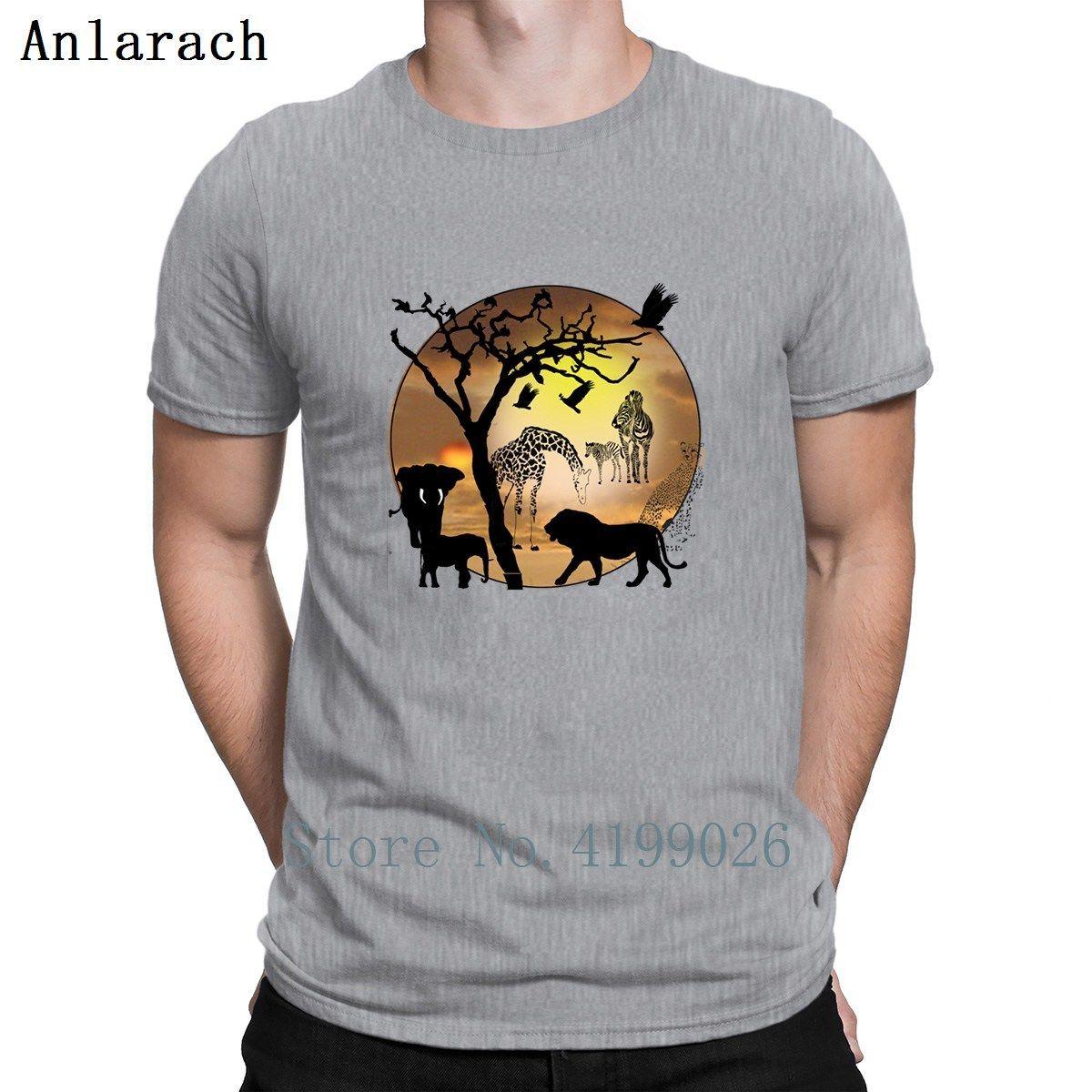 cd48e45a Safari African Jungle Wild Animals Tshirts Top Quality Great Pattern Print  Men's Tshirt Big Sizes Funny Spring Anlarach Male