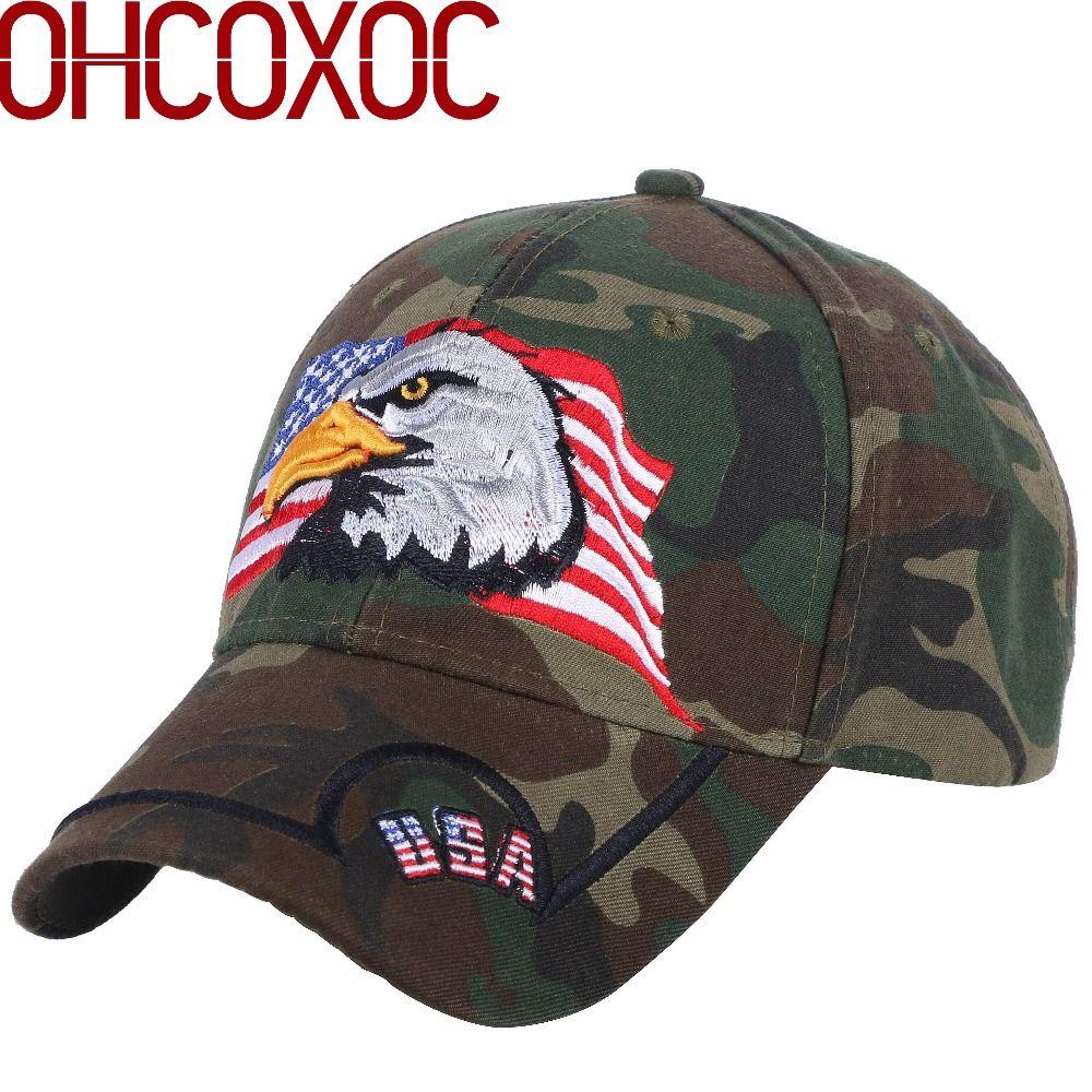 Promotion Men s Sport Baseball Caps Women Novelty Hat Customized Design  Eagle Animal Flag Letter Pattern Female Male Hip Hop Cap Cap Store Custom  Fitted ... 6b0713abe81