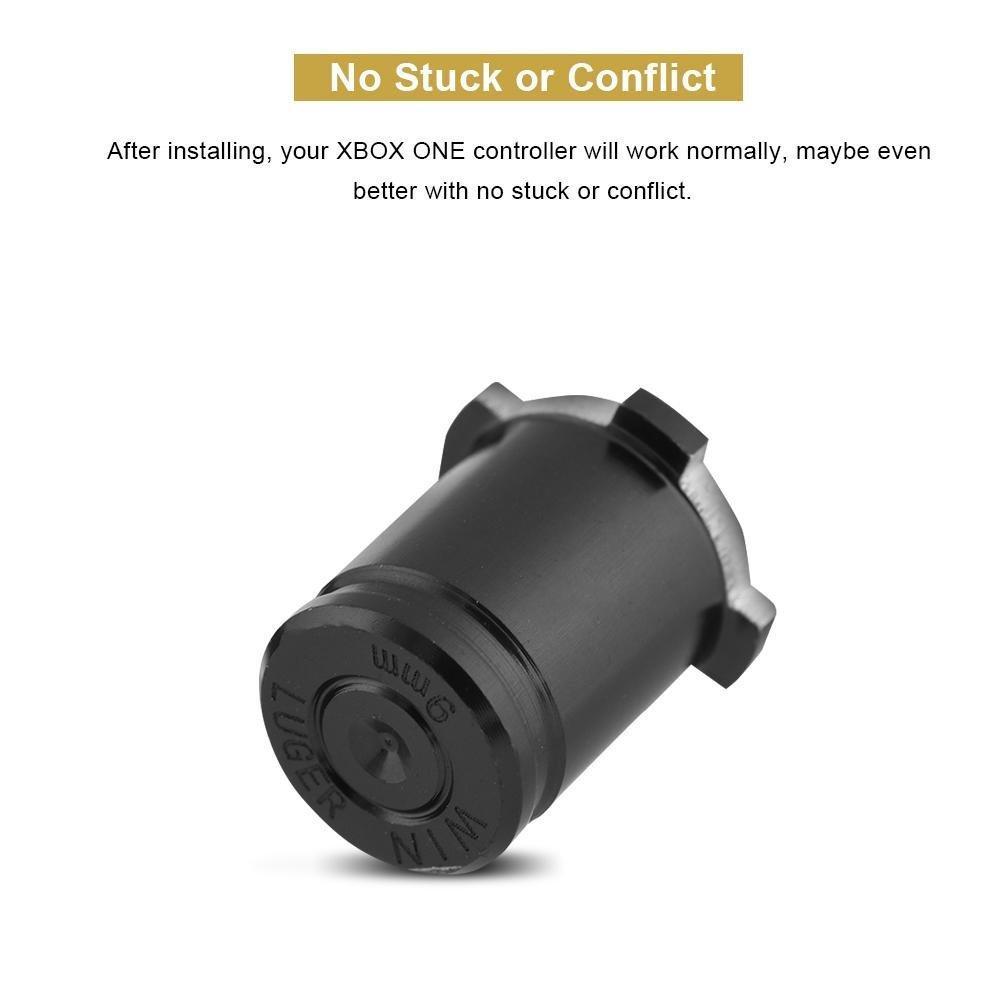 5 unids / set Aluminio Metal Bullet Button 9mm Luger ABXY y Speer Guía Botones configurados para xbox one controlador de Alta Calidad NAVE RÁPIDO