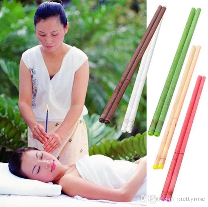 Natural Beewax Ear Candling Pure Bee Wax Thermo Auricular Therapy Straight Style Indiana Cigarrillo de la fragancia Ear Care Ear Candle