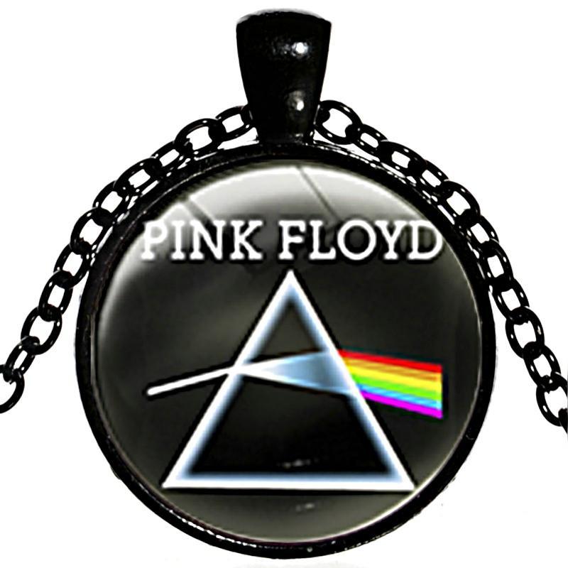 6526aaa03 Compre Aleación Plateada Unisex Redonda Time Gem Banda De Rock Cabochon Pink  Floyd Collar Pink Floyd Logo Collar Pink Floyd Colgante Necklace 2018 X594  A ...