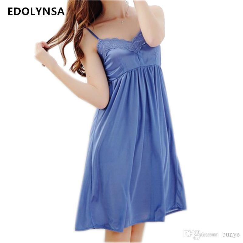 Best Wholesale New Arrivals Solid Nightgowns Home Dress Comfortable ...