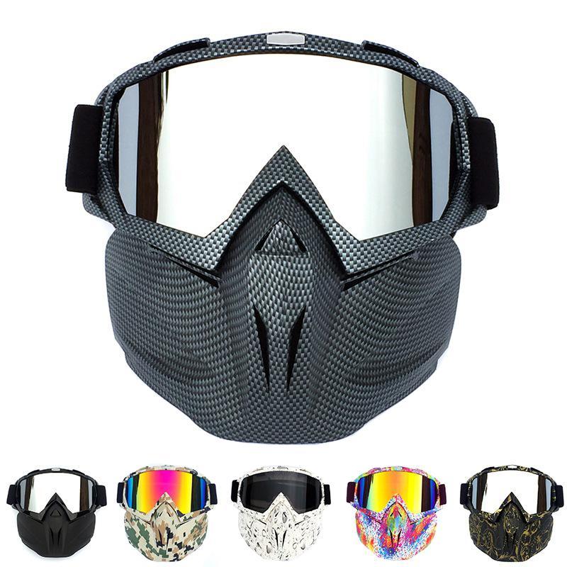 Acheter Ski Snow Bike Moto Masque Masque Masque Motocross Moto Open