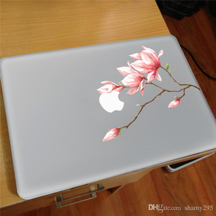 2018 new hot sales Pink bud flower Vinyl Decal Notebook sticker on Laptop Sticker For Macbook Pro 11 13 15 inch Laptop Skin