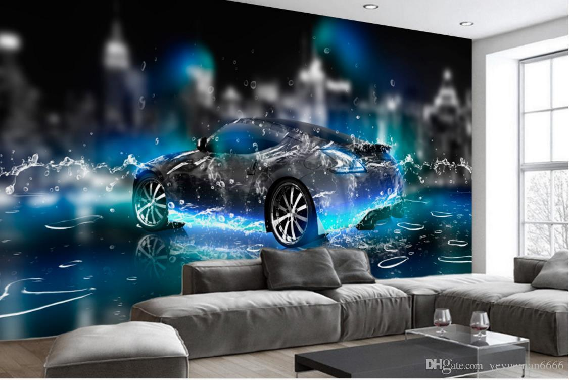 HD Wallpaper For Bedroom Walls Water Sports Car 3d Wall Paper For Living  Room Photo Non Woven 3d Stereoscopic Wallpaper Canada 2019 From  Yeyueman6666, ...