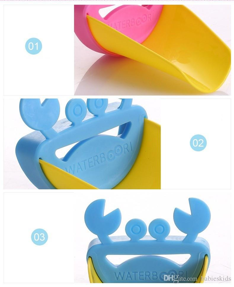 Hot Cute Crab Bathroom Water Faucet Extender For Kid Hand Washing Child Sink Tap Boys Girls Faucet Kitchen Bathroom Accessories Baby Toys