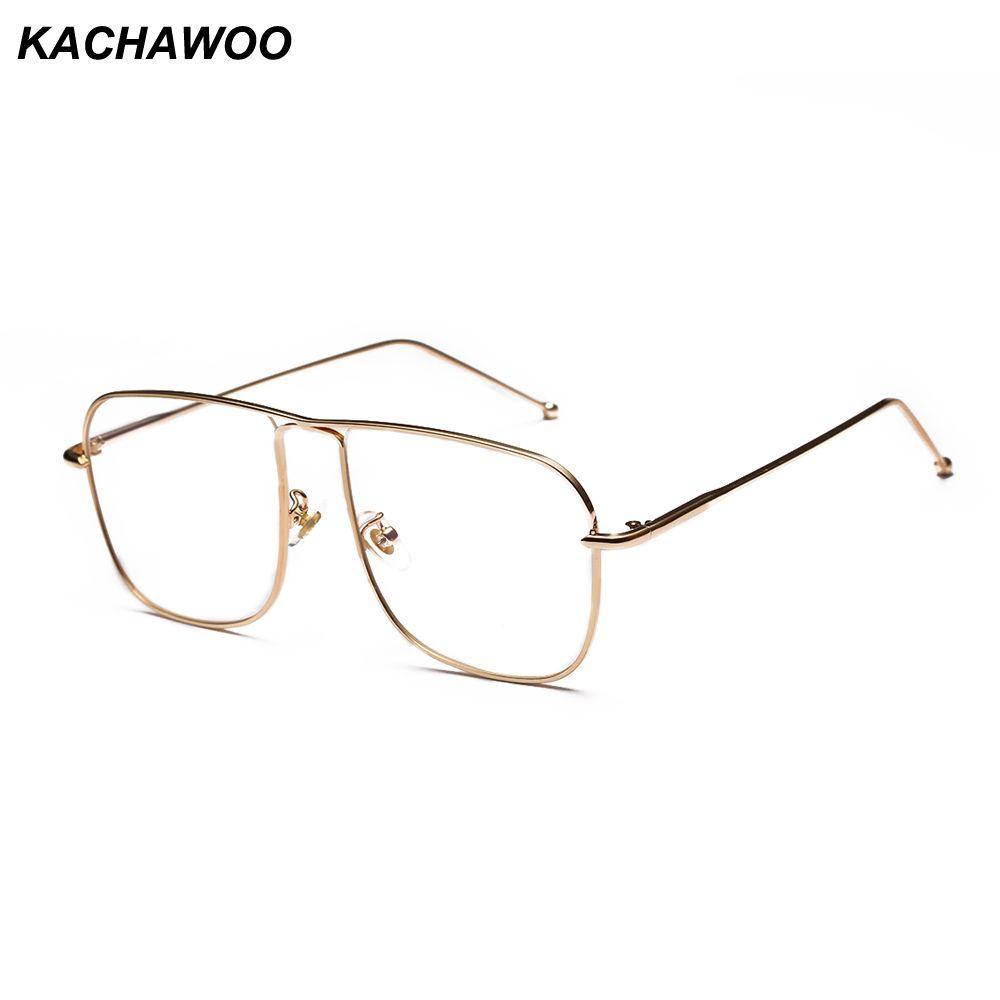 3f8076f71158 2019 Kachawoo Wholesale Square Eyeglasses Frames Men Fashion Rose ...