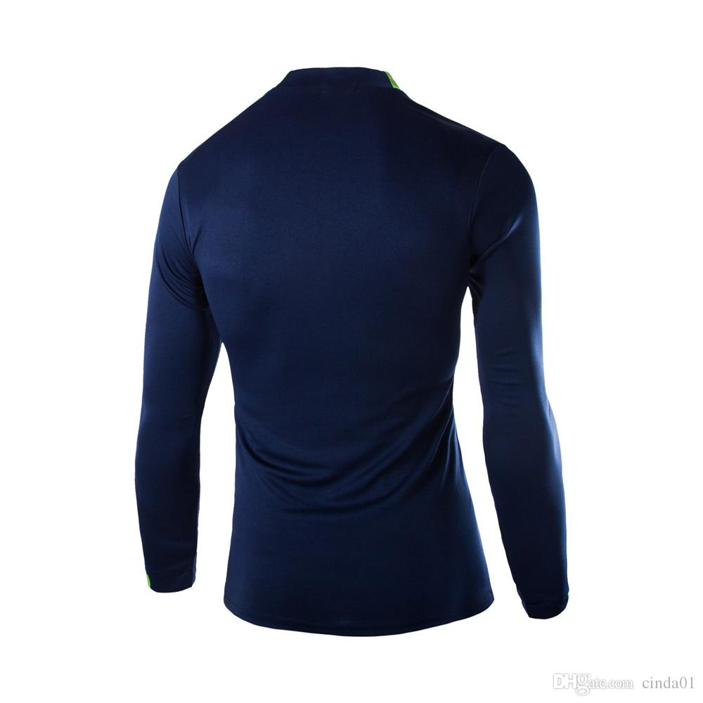 New Light Top Long Tee Slim Fit Sportwear para hombre de manga larga Tight alta elástica transpirable ropa