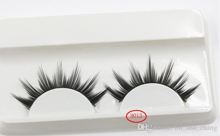 Nova chegada 16 estilo Handmade New Pestana Sob Almofadas de Olho Preto Longo Grosso CrossNatural Falso Eye Lashes Extensão Mulheres Maquiagem beleza