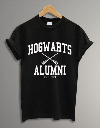 Compre Hogwarts Logotipo Alunos Harry Potter Preto Unisex Camisa Dos Homens  T Camisa Do Tumblr T Dos Homens Da Camisa 3XL Personalizado De Manga Curta  ... 585c13c178e01