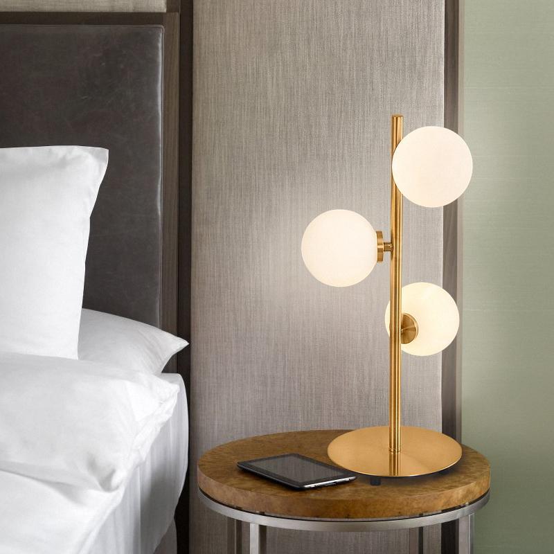 Modern Metal Night Lampade da tavolo per camera da letto Loft Decor Lampada  da comodino LED Sala da pranzo Lampada da tavolo G4 Portalampada Art Home  ...