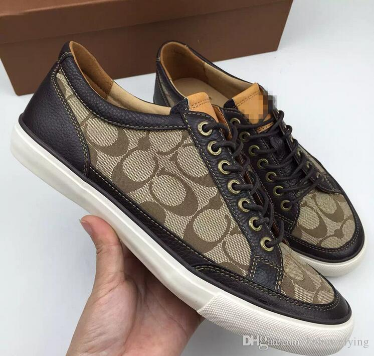 Christmas gift for famous brand designer mens casual shoes luxury sneaker genuine shoes 40 43 c69