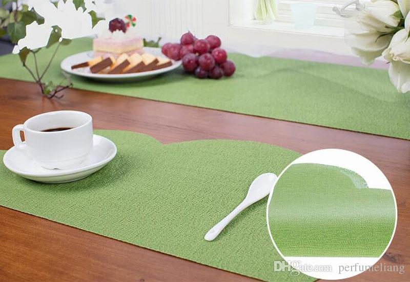 PVC Placemat Dining Mat Baby Kids Cloud Shaped Plate Mat Table Decoration Drink Coasters Waterproof ZA6644