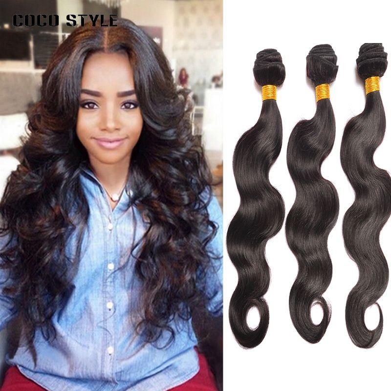 Human Hair Weaves Brazilian Human Hair Weave Bundles Deal Ocean Wave 3 Bundles Human Hair Estentions Double Weft Natural Color Remy Hair Weaving Hair Weaves