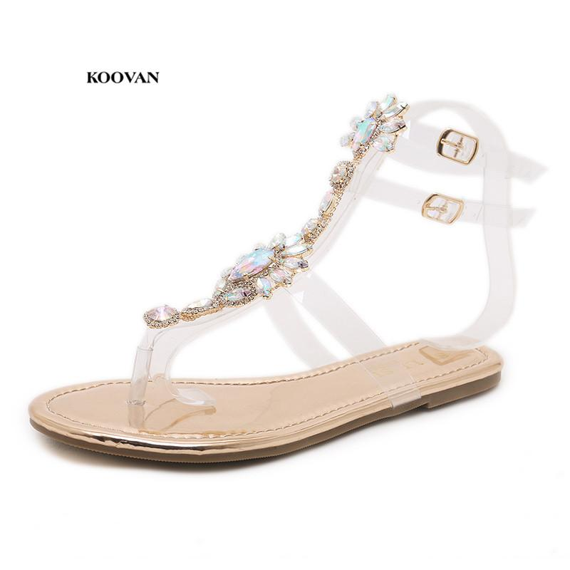 e74fc6661b4f Koovan Women S Diamond Sandals Female Girls Rhinestone Shoes 2018 New  Bohemia Folk Style Rome Beach Shoes Flat Summer Summer Shoes Purple Shoes  From Memebiu ...