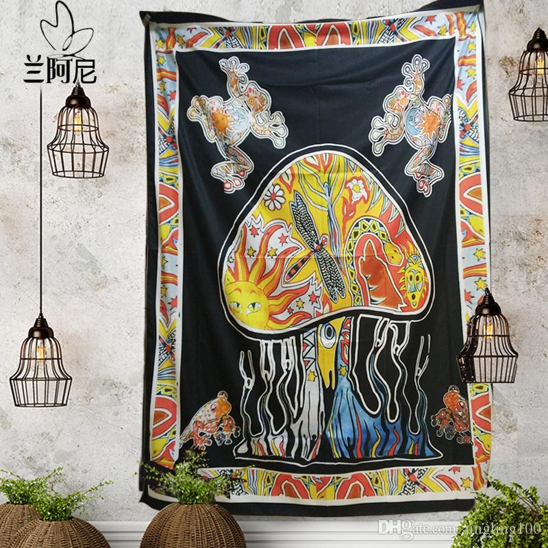 150 * 200cm Boemia Mandala RoundWall Decorative Hanging Arazzi copriletto tiro Etnica Arte floreale Telo da mare Meditazione Yoga Mat tiro