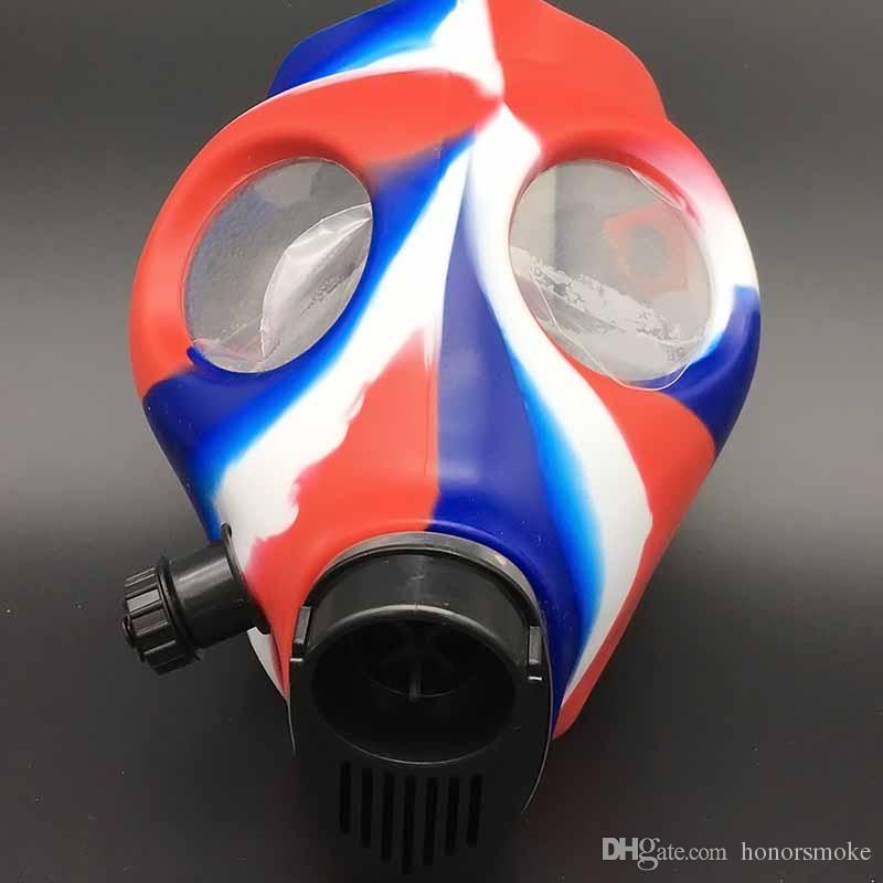 Parti Nargile Gaz Silikon Maske Bong Maskesi Tütün Sigara TabACco Shisha Boru 12 renkler Boru Araçları Aksesuarları Akrilik Cam Bong