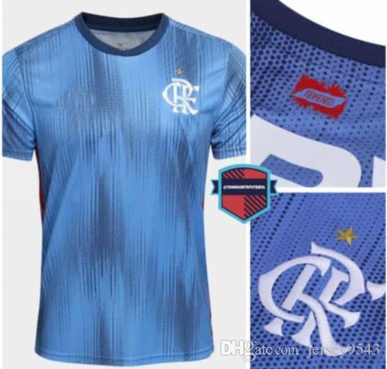 Compre Tailândia Qualidade 2018 Flamengo Azul Jersey 18 19 Brasil Flamengo  Vermelho Branco ZICO ELANO HERNANE Camisas De Futebol Camisa Esportiva  Estoque S ... 663a417d65682