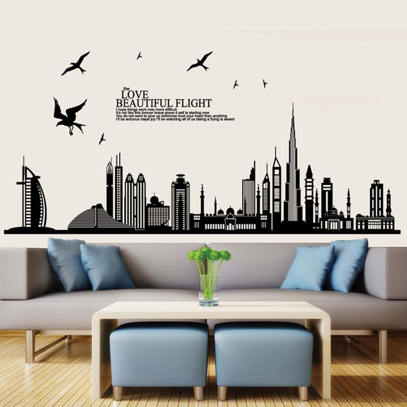 3d wallpaper dubai city buildings modern style creative personality