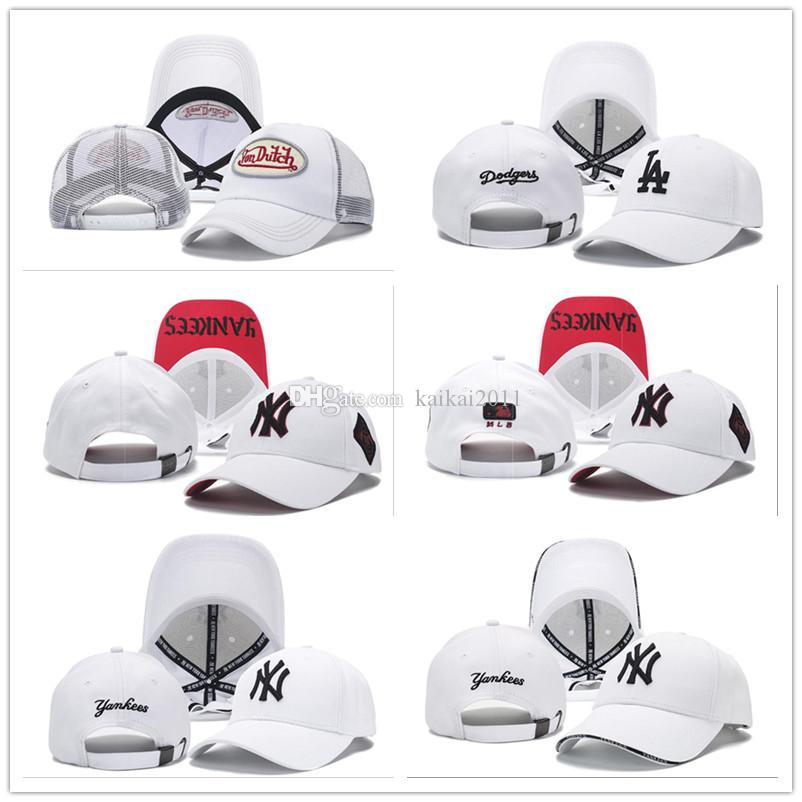 2018 Baseball Cap NY LA Embroidery Letter Snapback Hats Cheap Hat Outdoor Men&Women Wholesale Fitted White Sports Caps Drop Shipping Cheap