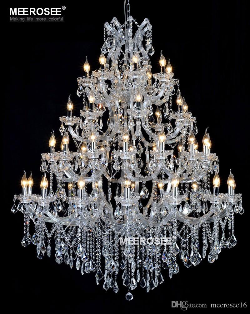 Acquista Lampadario Di Cristallo Enorme Lampadario Progetto Hotel Splendida  Lampada Di Cristallo Appeso Lustri Luce Illuminazione Ristorante A $2998.68  Dal