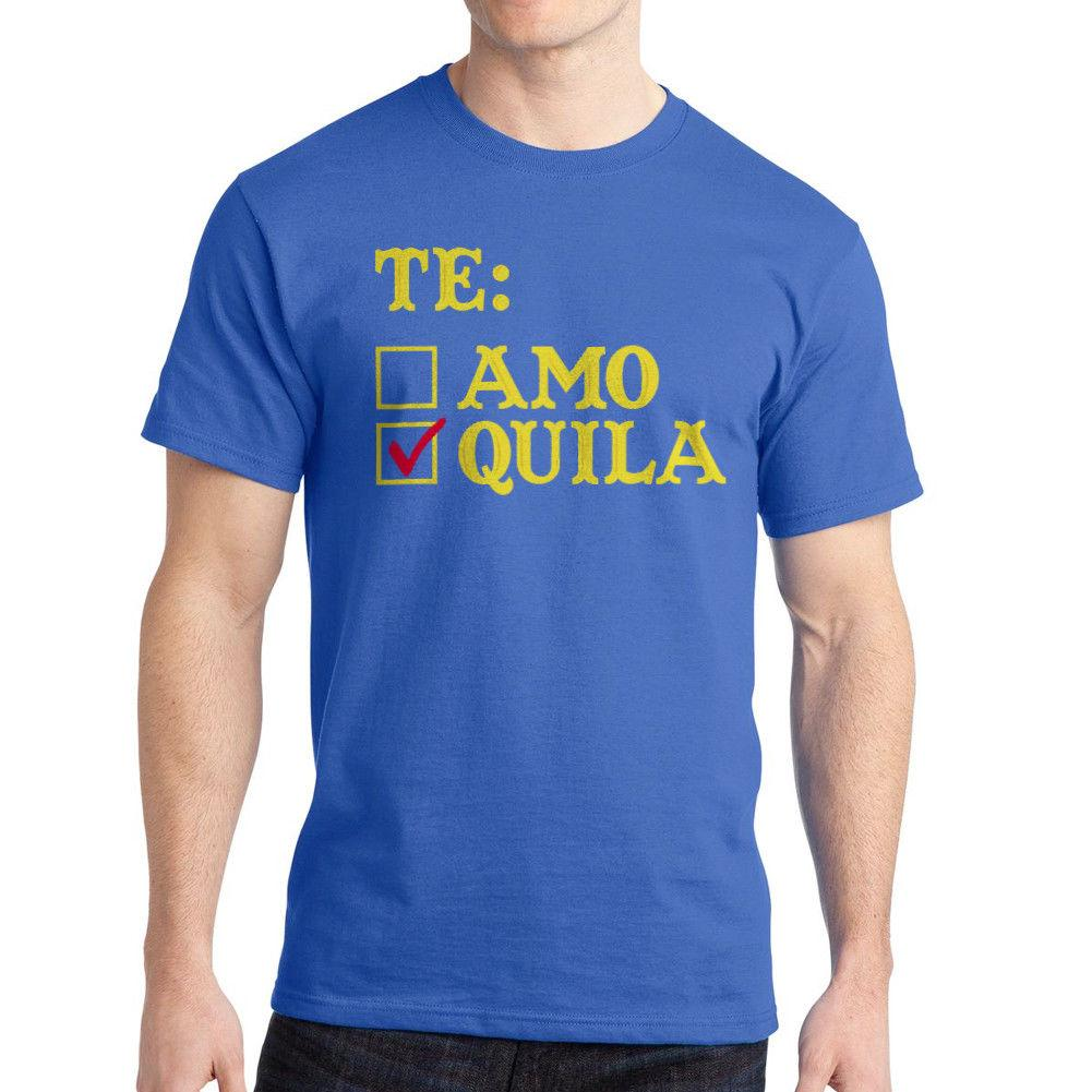 309810876675d6 Tequila Checkbox I Love Tequila Quote Men S Royal Blue T Shirt New Sizes S  3xl Men T Shirt Great Quality Funny Man Cotton Buy Funny T Shirts Shirts  And T ...