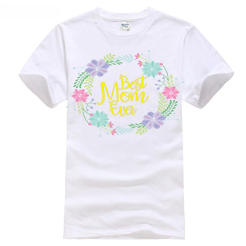 Mother S Day Gift Best Mom Ever T Shirt Ladies S M L XL XXL Women S Clothing  Hot Sale Women Top Cheap Sale 100 % Cotton Funny T Shirts For Men Make T ... e34d9e60f