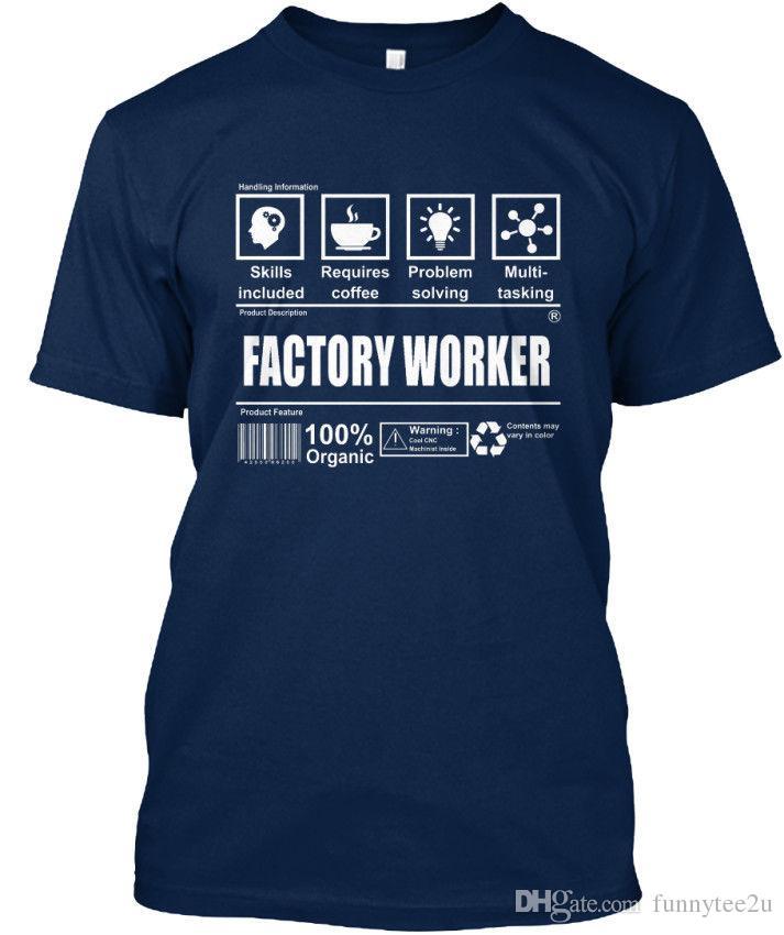 413c439cf16 Latest Factory Worker Standard Unisex T Shirt S 3XL Tee Shirt Men S Premium  Short Sleeve Thanksgiving Day Custom Plus Size Party Tshirt T Shirt Awesome  ...