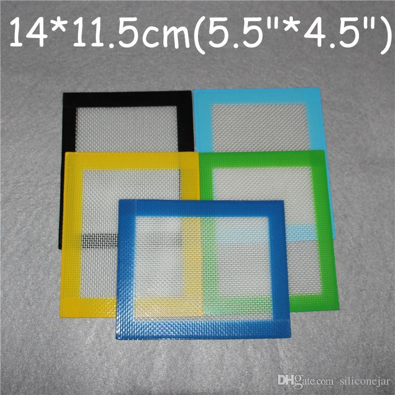 Tappetini in cera siliconica stuoie erba secca grandi 14 * 11.5cm tappetini in latta quadrata tamponati strumenti dab impianti petroliferi al silicio