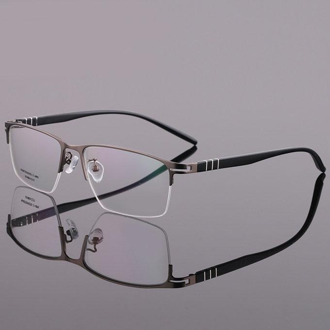 Compre Eoouooe Design Homens De Metal Óculos Ópticos Semi Aro Quadro Homens  Prescrição Gafas Miopia Masculino Óculos Oculos De Grau Masculin De  Milknew, ... 0ae00da1e2