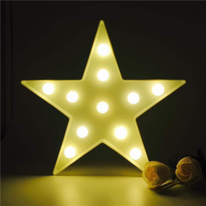 Großhandel Dekorative Buchstaben Licht Stern Form Led Moderne Wand ...