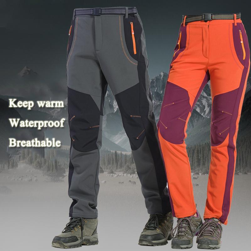 Acheter Hiver En Plein Air Randonnée Pantalon De Ski De Pêche Imperméable Camping  Trekking Polaire Pantalon De Ski Escalade Softshell Trouserl Hommes Femmes  ... 93b68463646