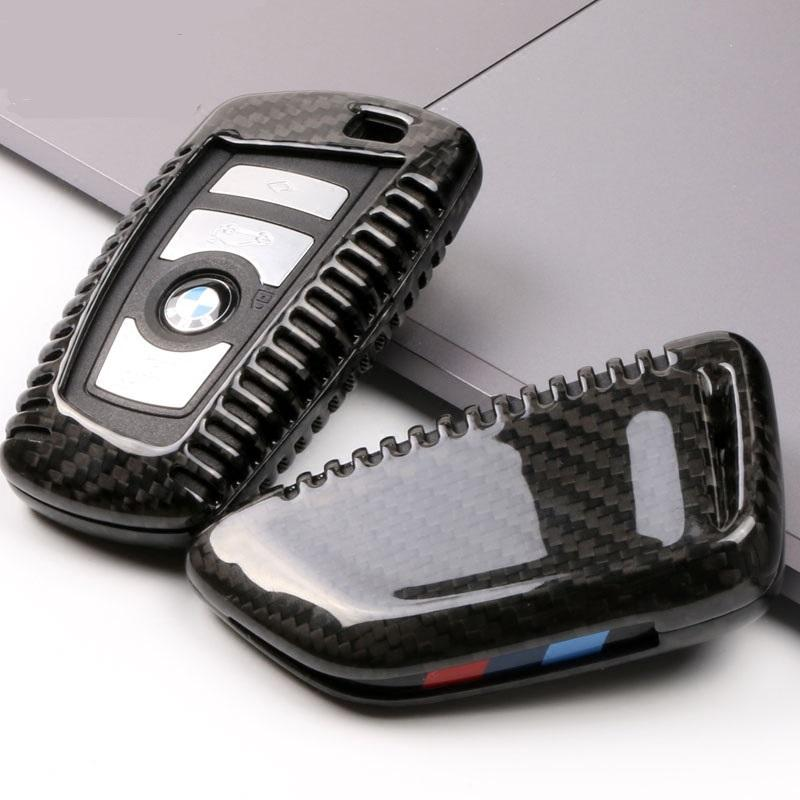 Carbon Fiber Car Key Cover Case For Bmw 1 3 5 6 7 Series 2013 2018