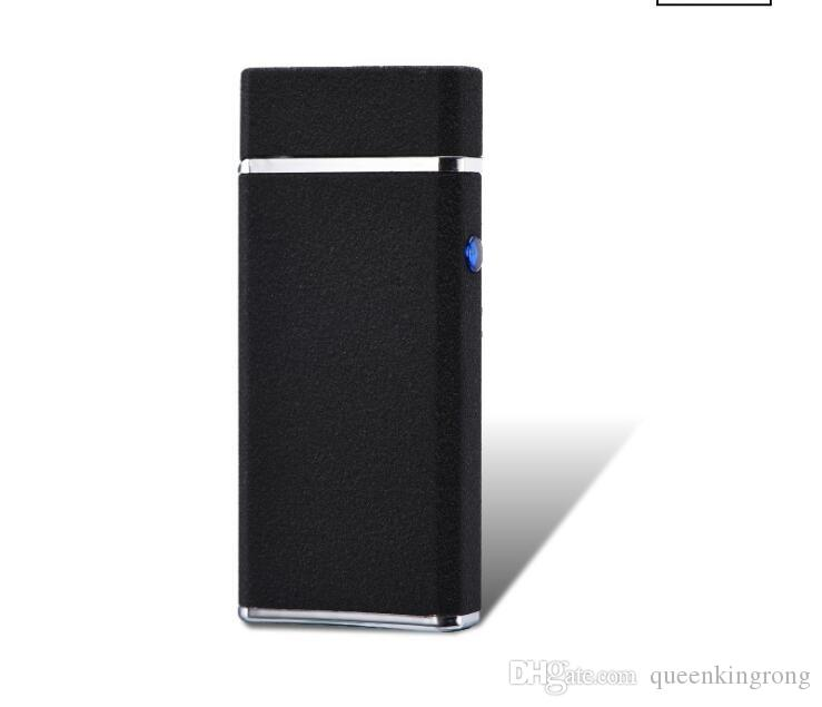 Newest Double Arc Lighter With Light USB Windproof Pulse Cigarette Rechargeable Electronic Lighters For Smoking Tools