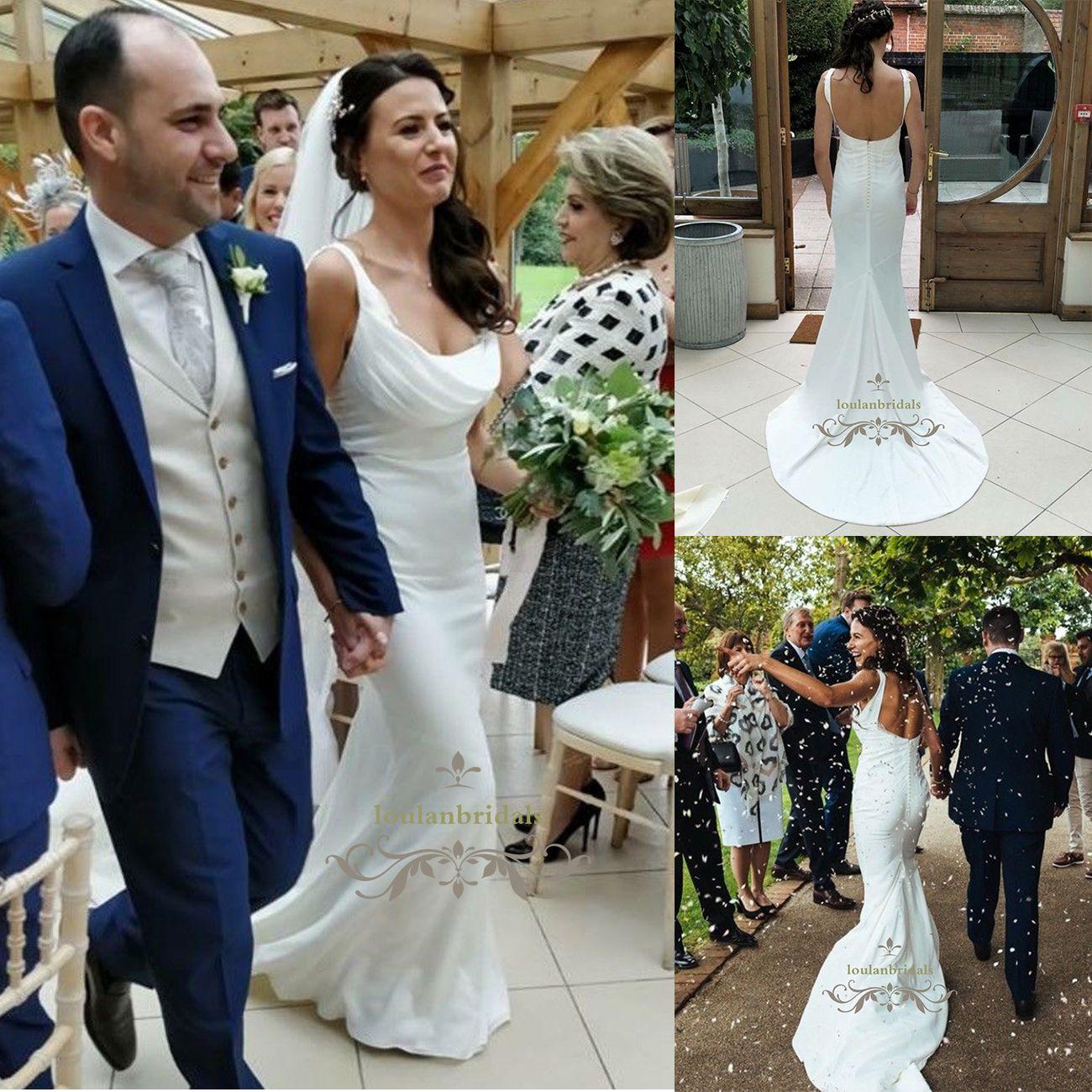 Cowl Neckline Wedding Gowns: Features Gorgeous Cowl Neckline Bias Cut Bottom Wedding