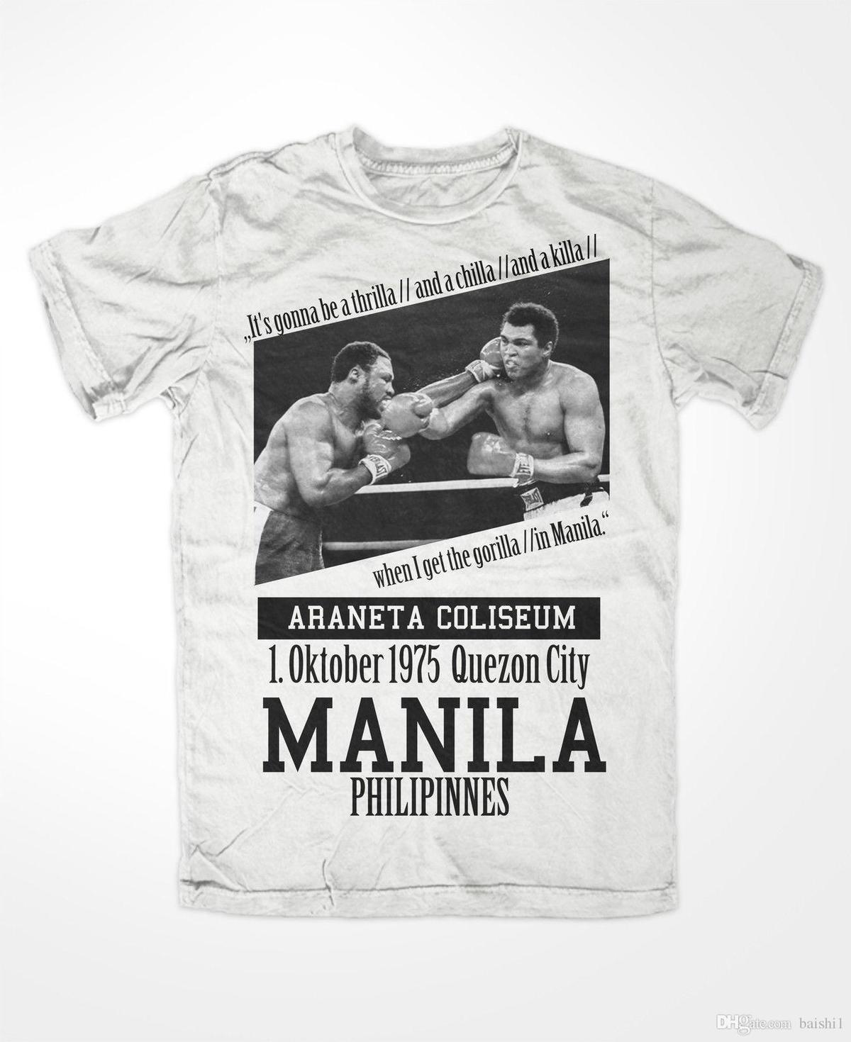 T-Shirt Muhammad Ali 3 ,king of The Ring ,Boxing,KO,Thrilla In Manila, Greatest for Man Hipster O-Neck Causal Cool Tops